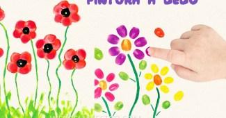 Dibujos con pintura de dedos para niños