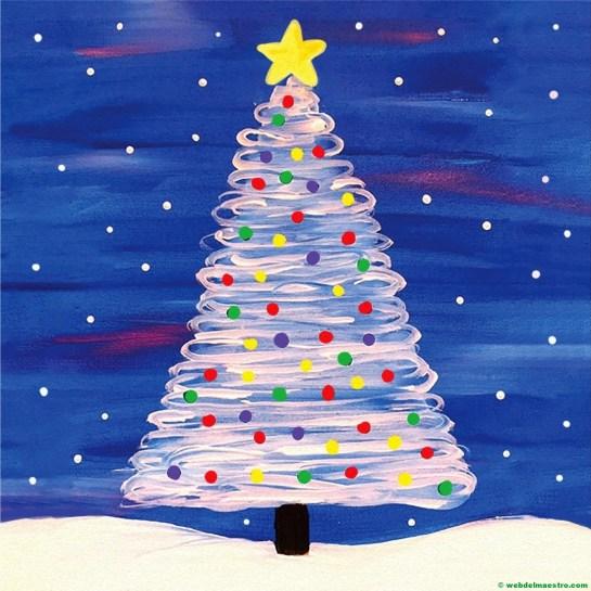 Dibujo de árbol de Navidad nº 6