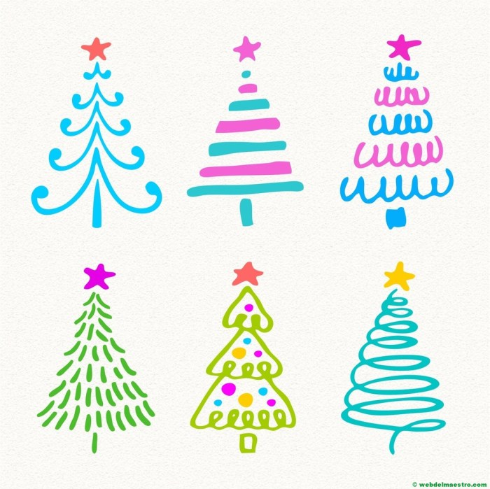 Modelos para dibujar árbol de Navidad-1