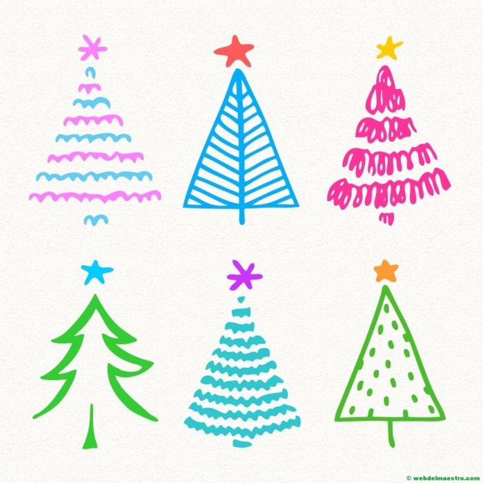 Modelos para dibujar árbol de Navidad-4