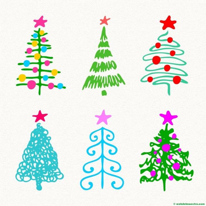 Modelos para dibujar árbol de Navidad-5