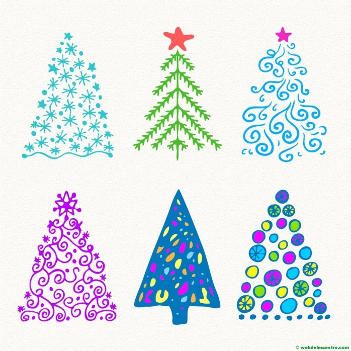 Modelos para dibujar árbol de Navidad-8