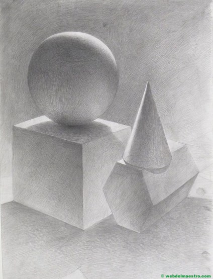 dibujo a lápiz fácil-cuerpos geométricos con volumen