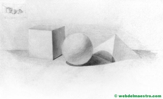 dibujo a lápiz fácil de cuerpos geométricos