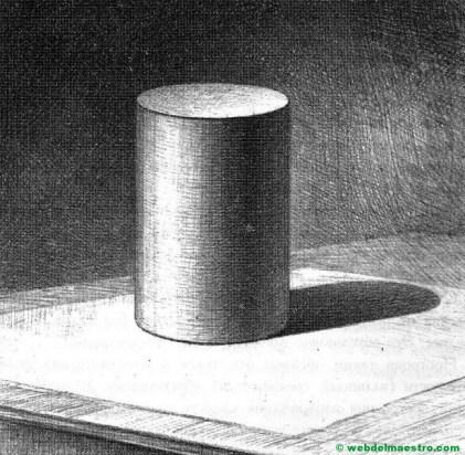 dibujo de cilindro a lápiz de carboncillo