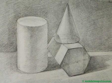 prismas dibujados a lápiz-