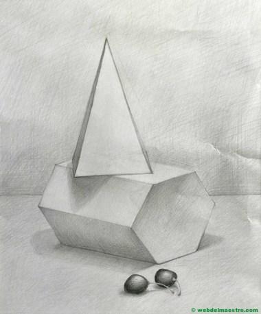 prismas dibujados a lápiz
