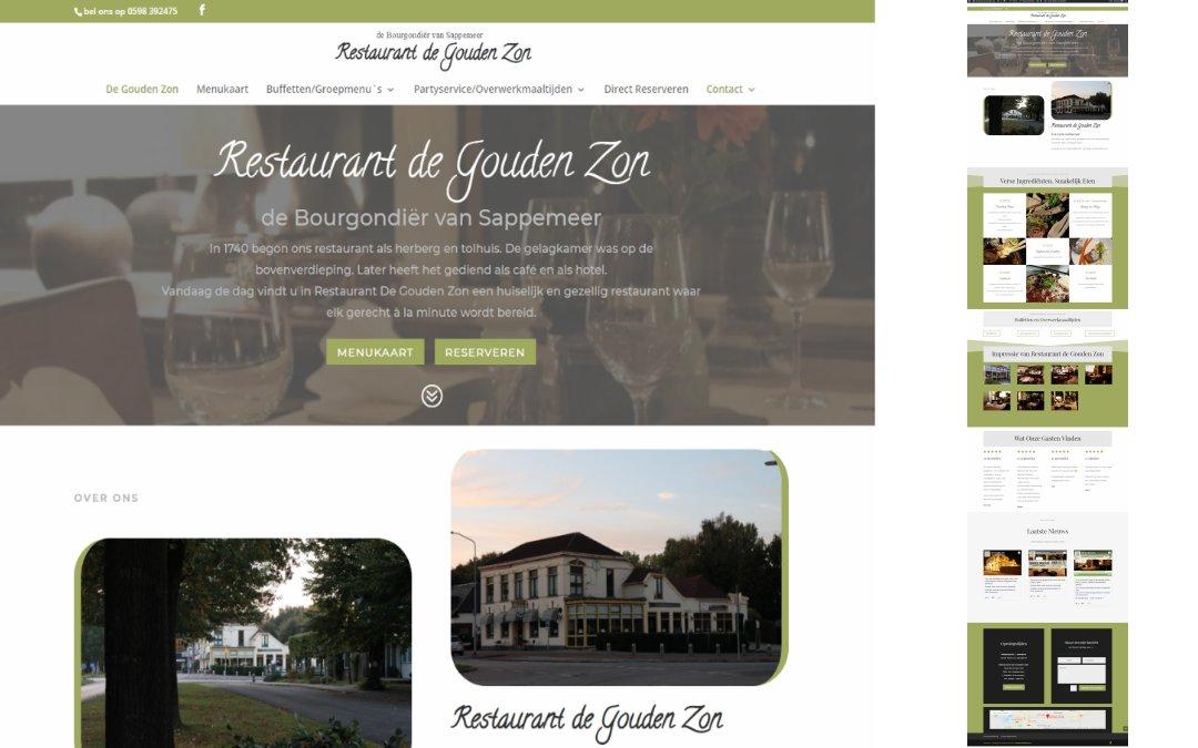 restaurant de gouden zon website https://webdesign-drenthe.nl
