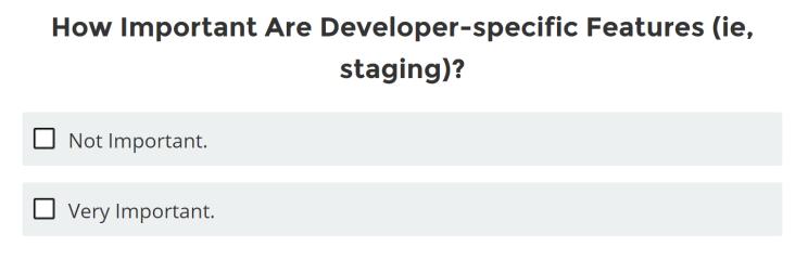 開発に特化した特徴が、どのくらい重要か?
