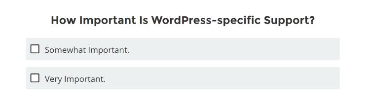 WordPressに特化したサポートが、どのくらい重要か?