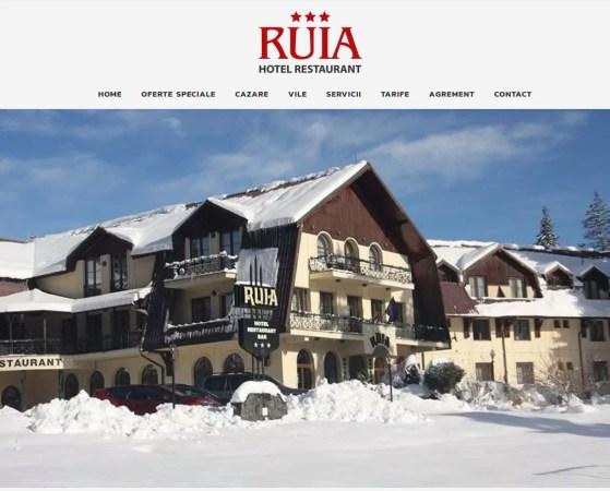 Realizare site Hotel Ruia