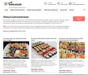 Realizare site de prezentare Sushi Atelier