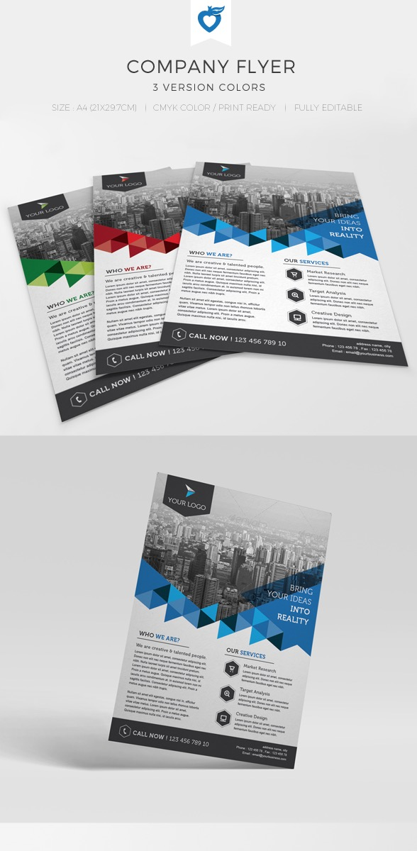 12-Company Flyer Design Template