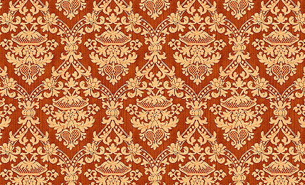 Orange Damask Wallpaper