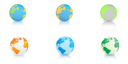 9 Vector Globes Download