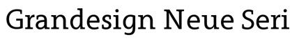 Grandesign Neue Serif