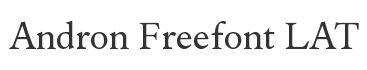 Andron Freefont LAT