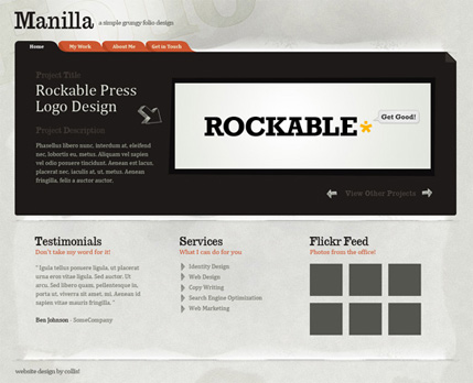 Photoshop Paper Texture from Scratch then Create a Grungy Web Design with it!