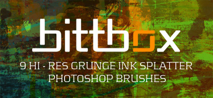 High-Res Grunge Ink Splatter Brushes