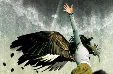 Photo Manipulate a Falling Angel
