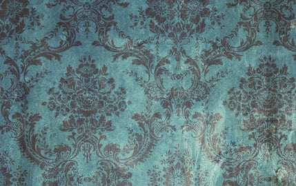 Teal Brown Grunge Damask