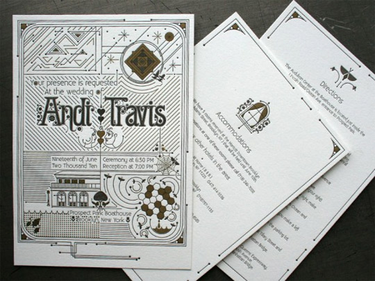 letterpress invitations