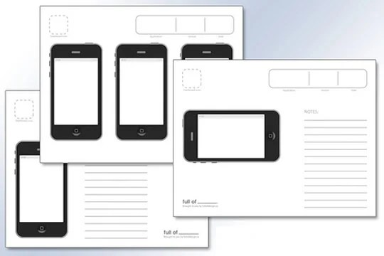 ipad grid template - 10 free printable web design wireframing templates web