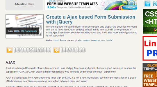Ajax Submission Form