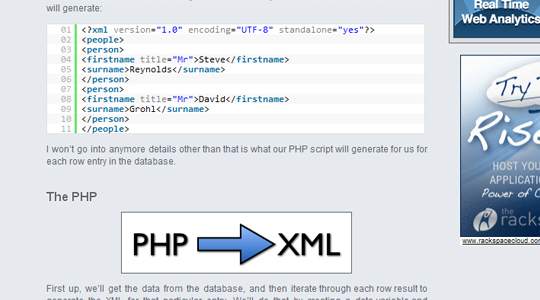 PHP/XML into jQuery