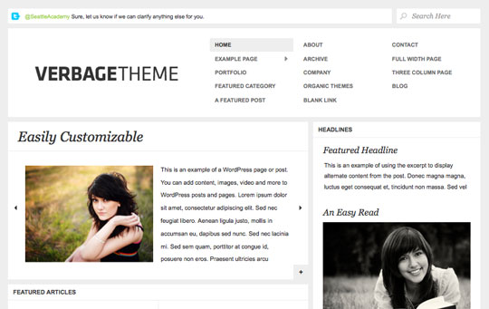 minimal wordpress