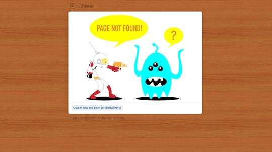 Shelfworty 404 page