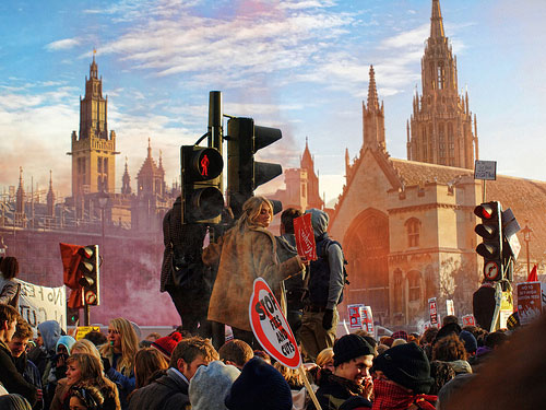 Student Protest 09.12.2010 - Parliament Square