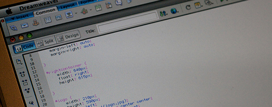 Coding Adobe Dreamweaver CSS on Mac OS X