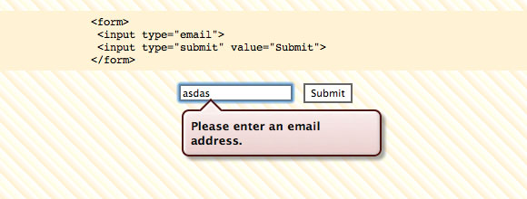 Email Addresses in HTML 5