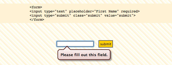 Required Fields in HTML 5