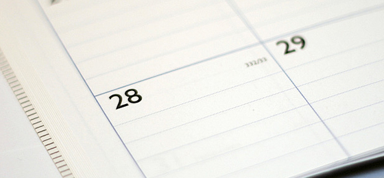 Freelancer's Calendar Stock Photo