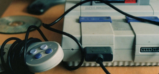 Super Nintendo gaming system distraction