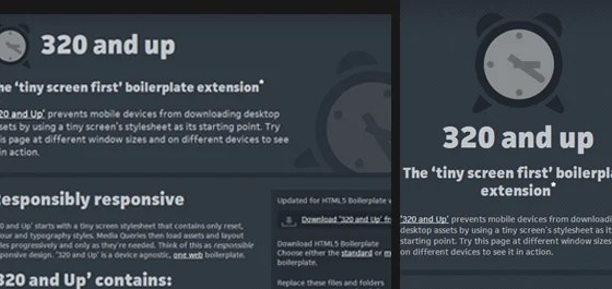320 and up boilerplate - responsive design