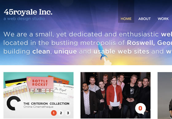 45royale web design agency