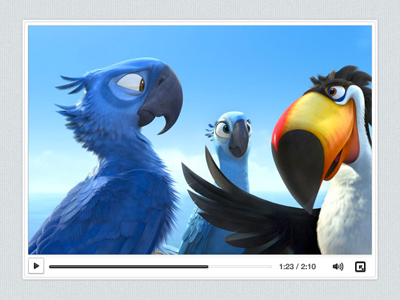 simple video player UI PSD