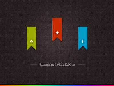 multi-color vertical ribbons psd