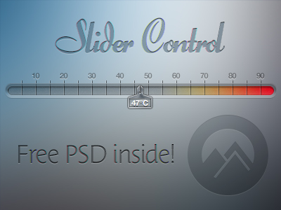 colorful slider user interface psd