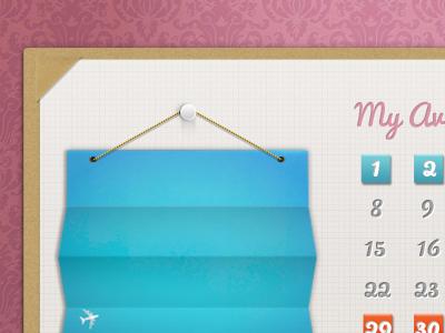 availability calendar planning freebie psd