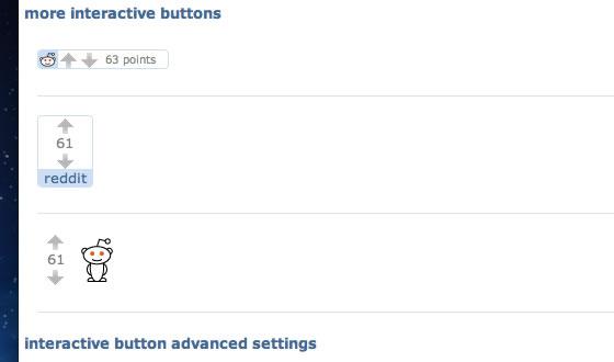 Reddit Alien social media buttons and badges sharing