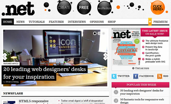 .Net web design magazine