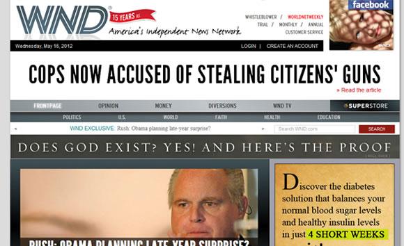 World Net Daily online magazine reporting