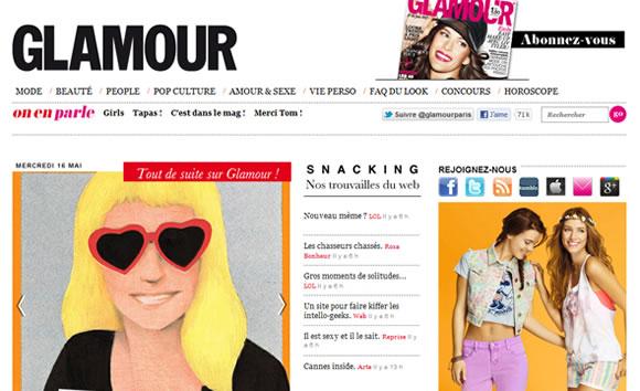 Glamour Paris and fashion magazine