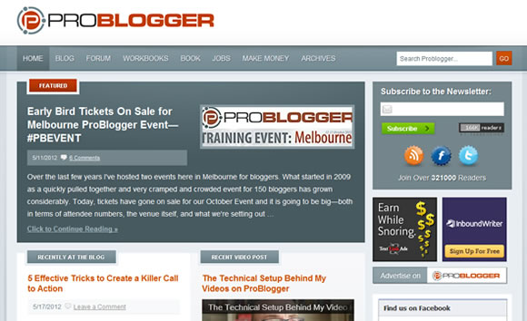 ProBlogger making money online magazine