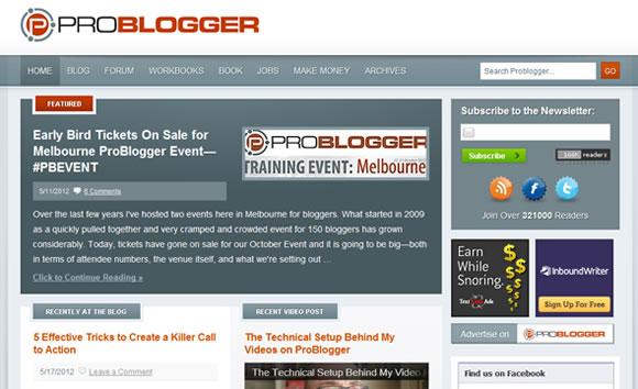 ProBlogger making money online magazine