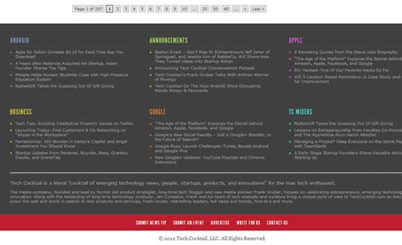 Tech Coctail magazine blog writing articles